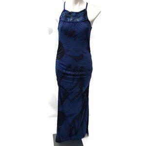 Jessica Simpson Blue Tie Dye Crochet Maxi Dress XL